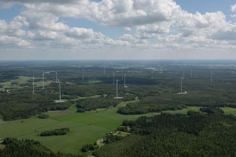 Torkkolan tuulivoimapuisto_Pohjoismainen Ilmakuvakeskus 2016