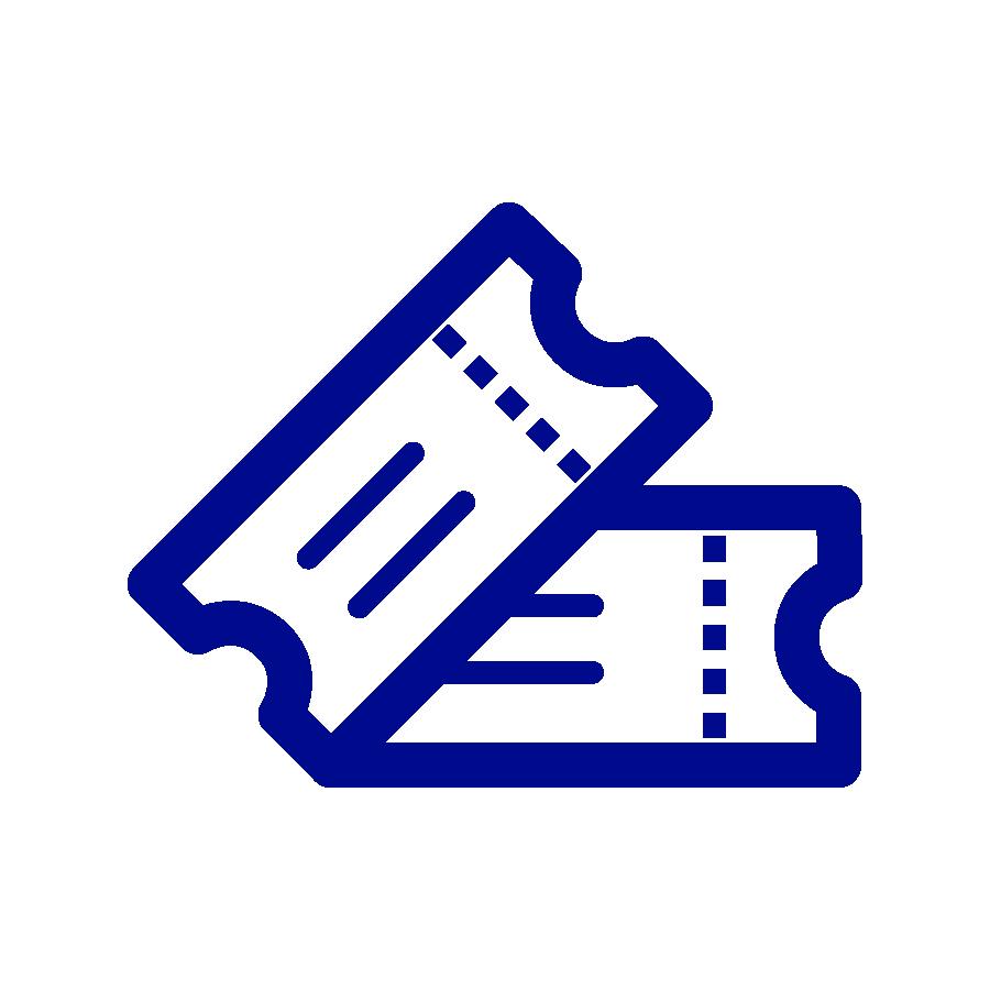 pääsylippu-piktogrammi sininen