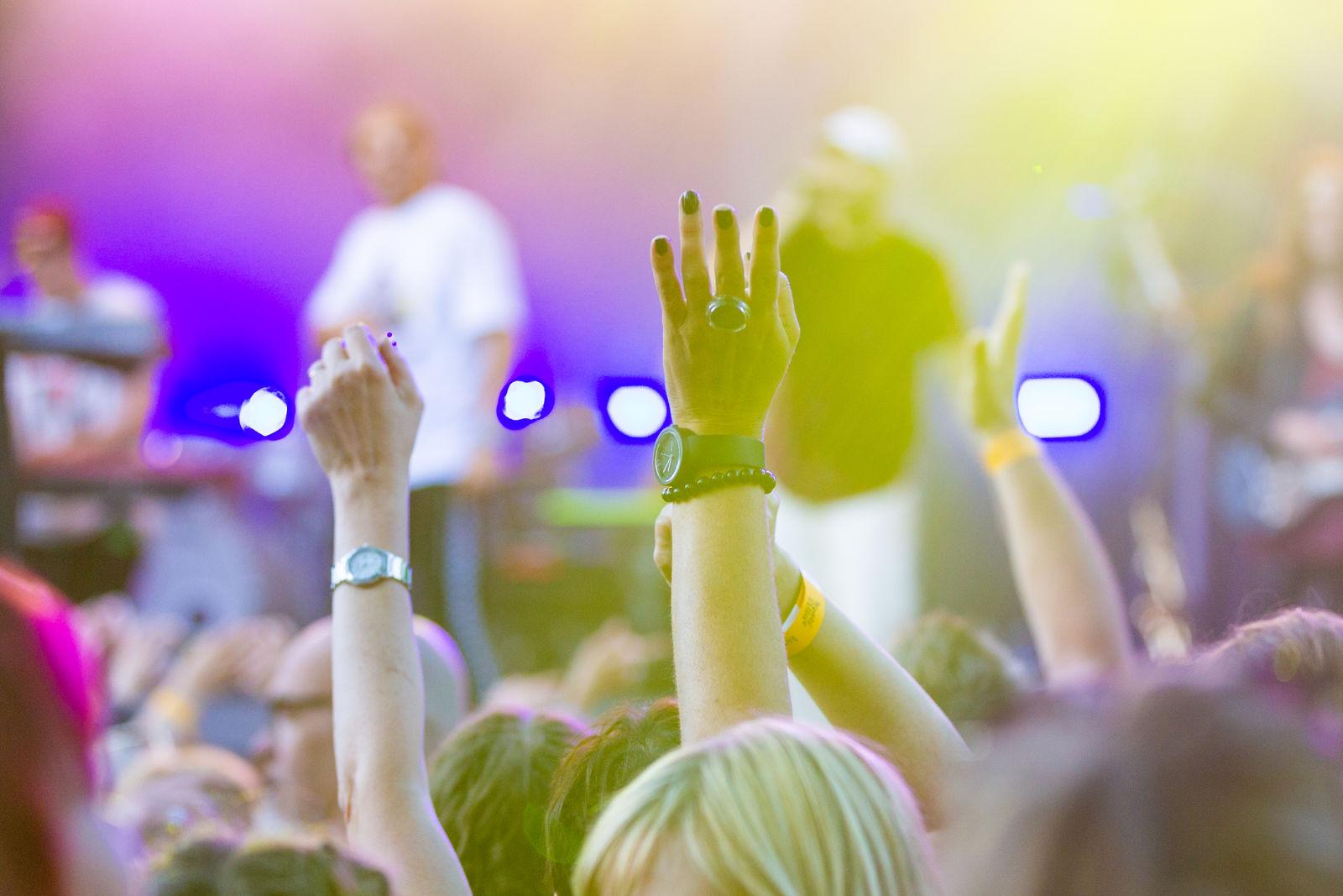 Nuoret ulkoilmakonsertissa