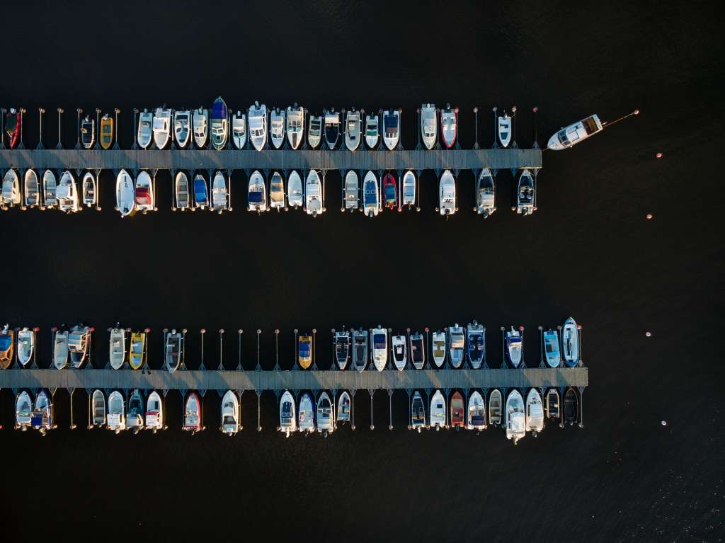 Venelaiturit ylhäältä