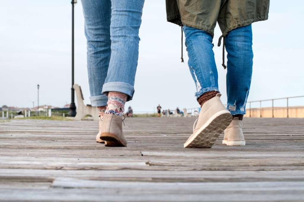 Promenad på bryggan