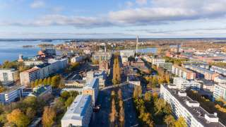Kaupunki syksyllä ilmakuva