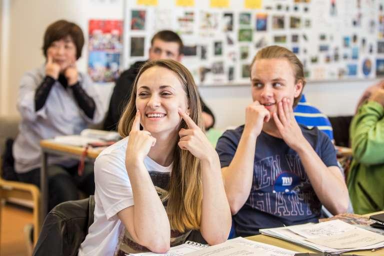 Vasa Arbiksen opiskelijoita