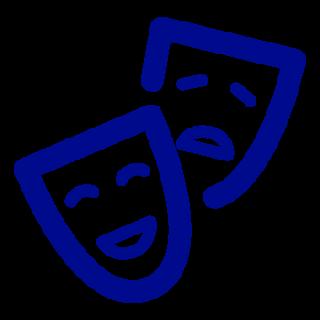Vaasan kaupunginteatteri siniset teatterimaskit