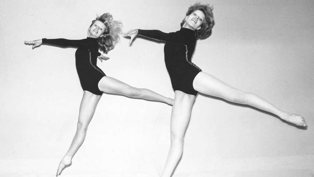 Två gymnaster från Vasa-flickorna