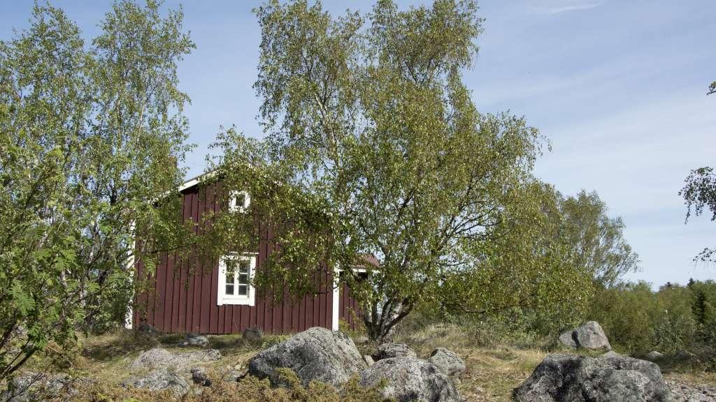 Finnhamn's open wilderness hut is very idyllic.