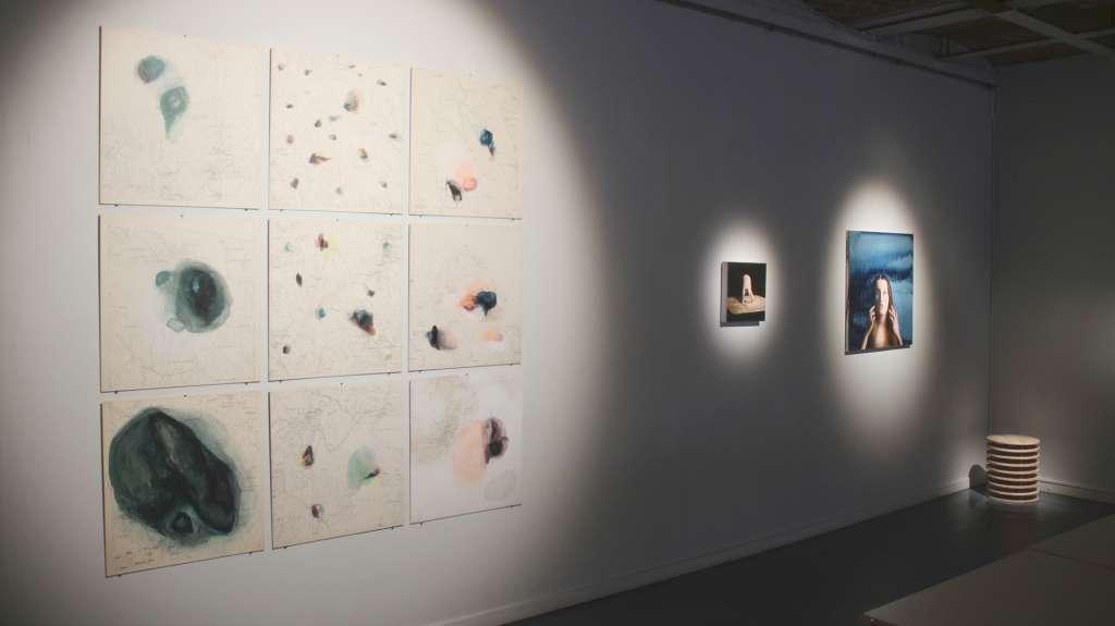 Kuva Vaasan taidehallin näyttelystä Nuori taide Pohjanmaalla_kuvaaja Mira Braxén