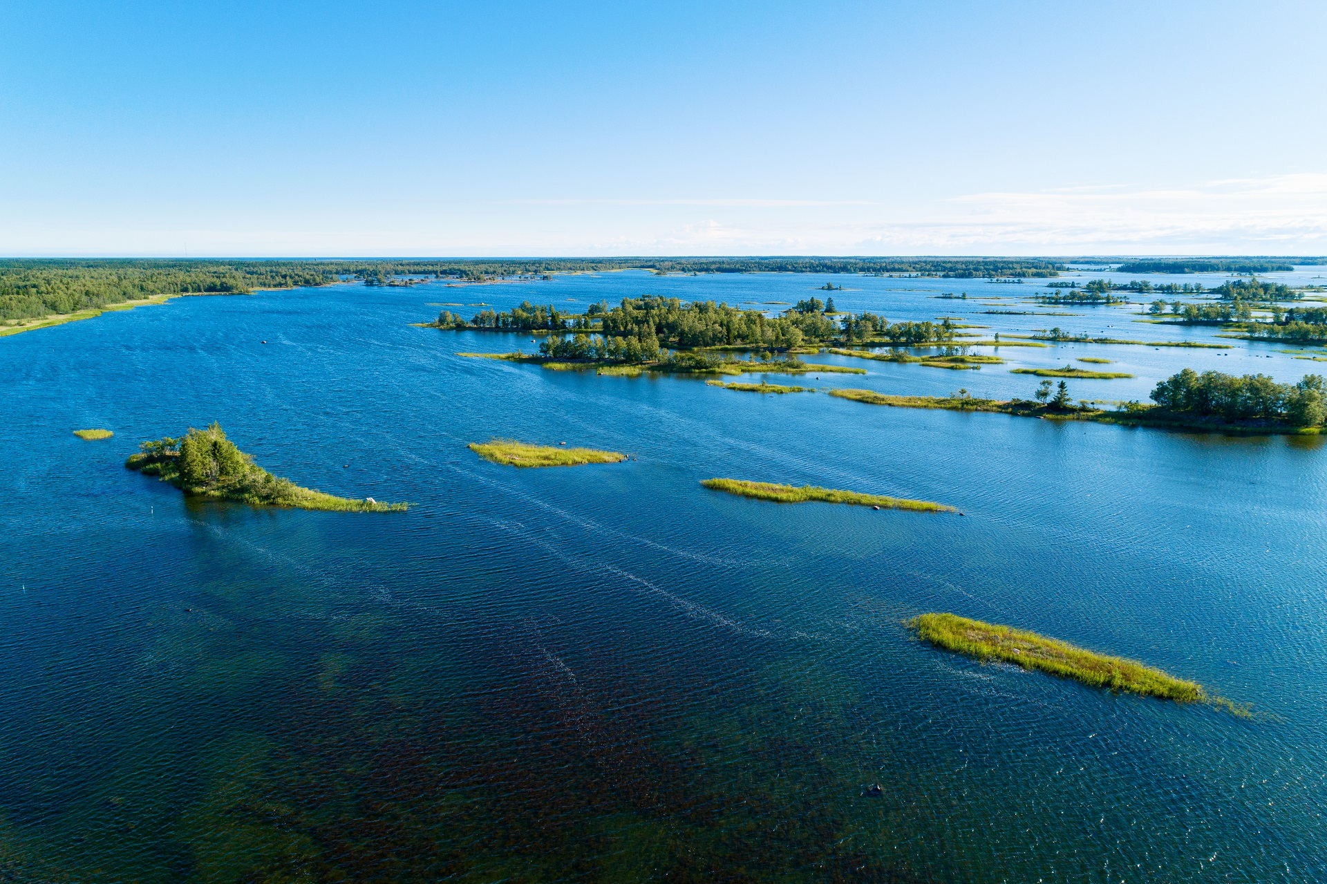 Merenkurkun saaristo on tunnettu De Geer -moreenimaisemastaan.