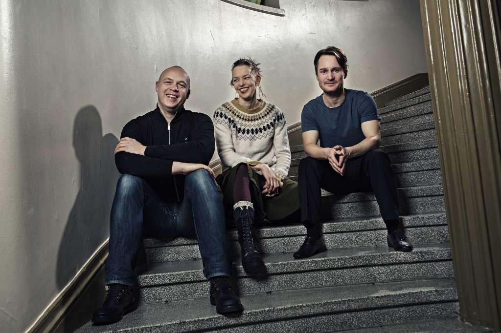 Skådespelarna Jonas Bergqvist, Lina Ekblad och Jakob Johansson