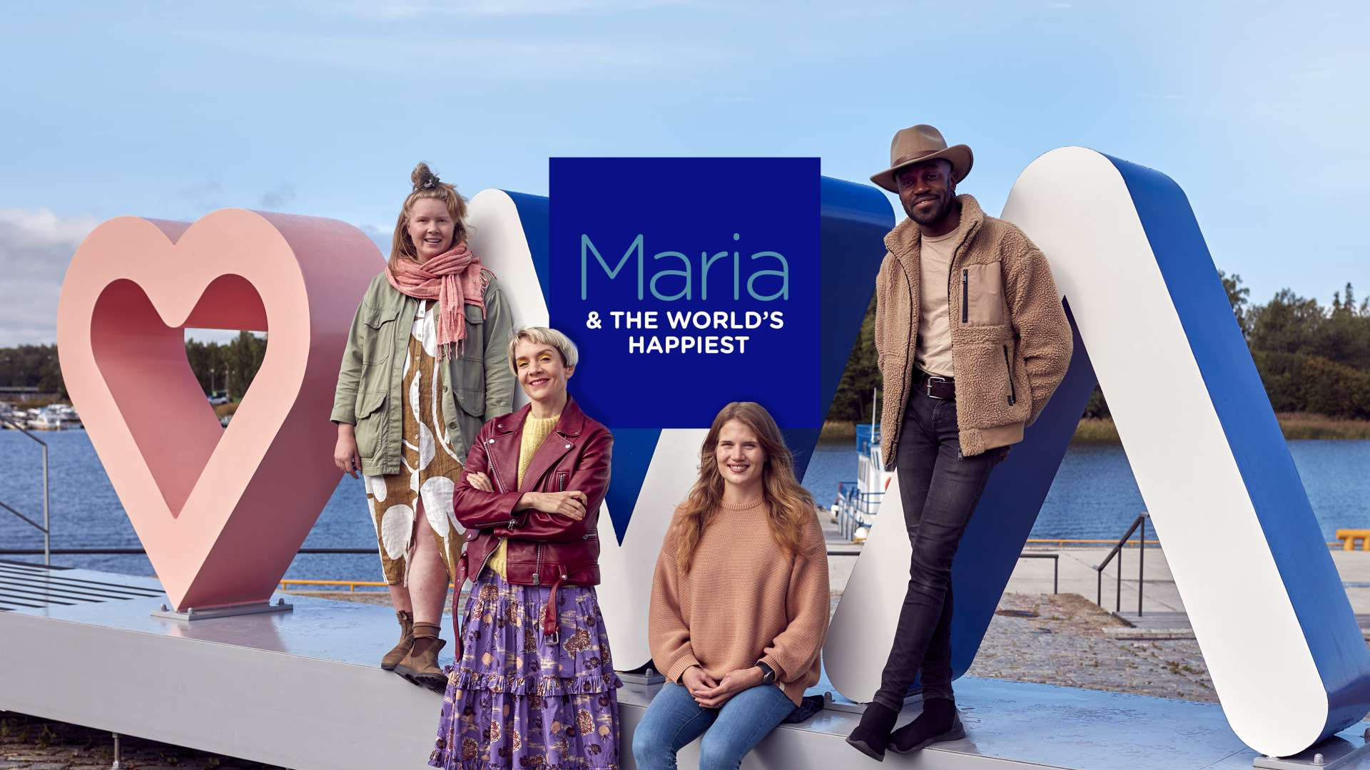 Happies person in the world finalists and maria veitola